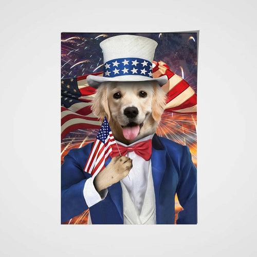 The Uncle Sam Custom Pet Portrait Poster - Noble Pawtrait