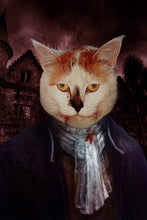 Load image into Gallery viewer, The Vampire Custom Pet Portrait Digital Download - Noble Pawtrait