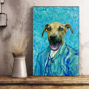 The Impasto Custom Pet Portrait Poster - Noble Pawtrait