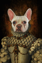 Load image into Gallery viewer, Queen Elizabeth Custom Pet Portrait - Noble Pawtrait