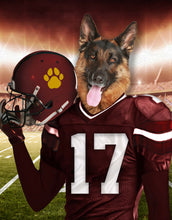Load image into Gallery viewer, Washington Football Team Custom Digital Download Pet Portrait - Noble Pawtrait