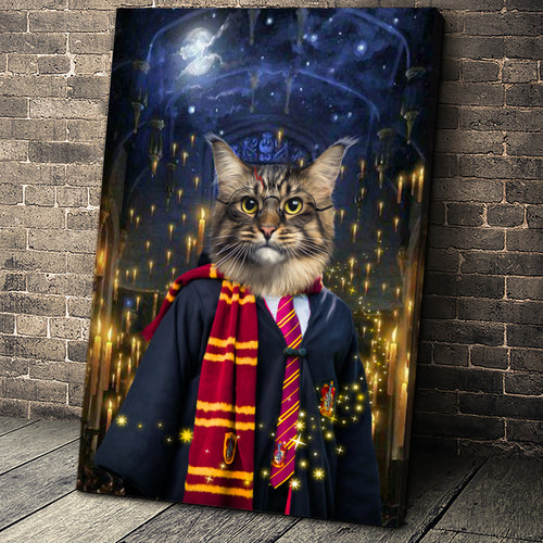 The Wizard Custom Pet Portrait - Noble Pawtrait