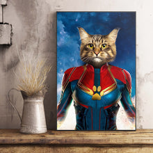 Load image into Gallery viewer, The Wonder Captain Paw Custom Pet Portrait Poster - Noble Pawtrait