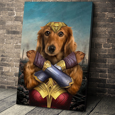 The Wonder Paw Custom Pet Portrait Canvas - Noble Pawtrait