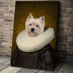 The Ruff Custom Pet Portrait Canvas - Noble Pawtrait