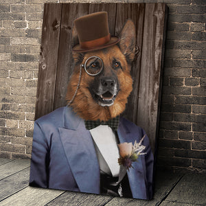 The Mr. Custom Pet Portrait Canvas - Noble Pawtrait