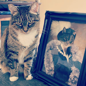 The Foxy Lady Custom Pet Portrait Poster - Noble Pawtrait