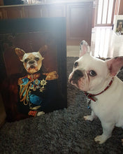 Load image into Gallery viewer, The General Custom Pet Portrait Canvas - Noble Pawtrait