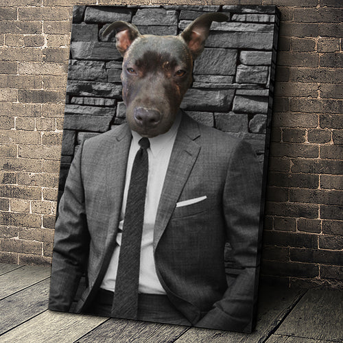 The Hustler Custom Pet Portrait - Noble Pawtrait