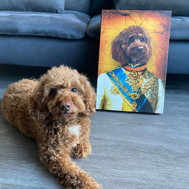 The Prince Custom Pet Portrait - Noble Pawtrait