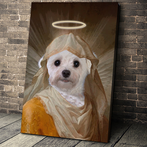 The Angel Custom Pet Portrait Canvas - Noble Pawtrait