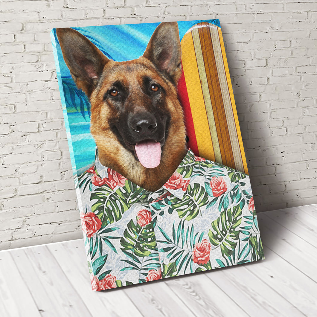 The Summer Vibe Custom Pet Portrait Poster - Noble Pawtrait