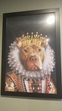 Load image into Gallery viewer, The Monarch Custom Pet Portrait Poster - Noble Pawtrait
