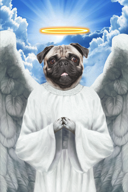The Flying Angel Custom Pet Portrait Digital Download - Noble Pawtrait