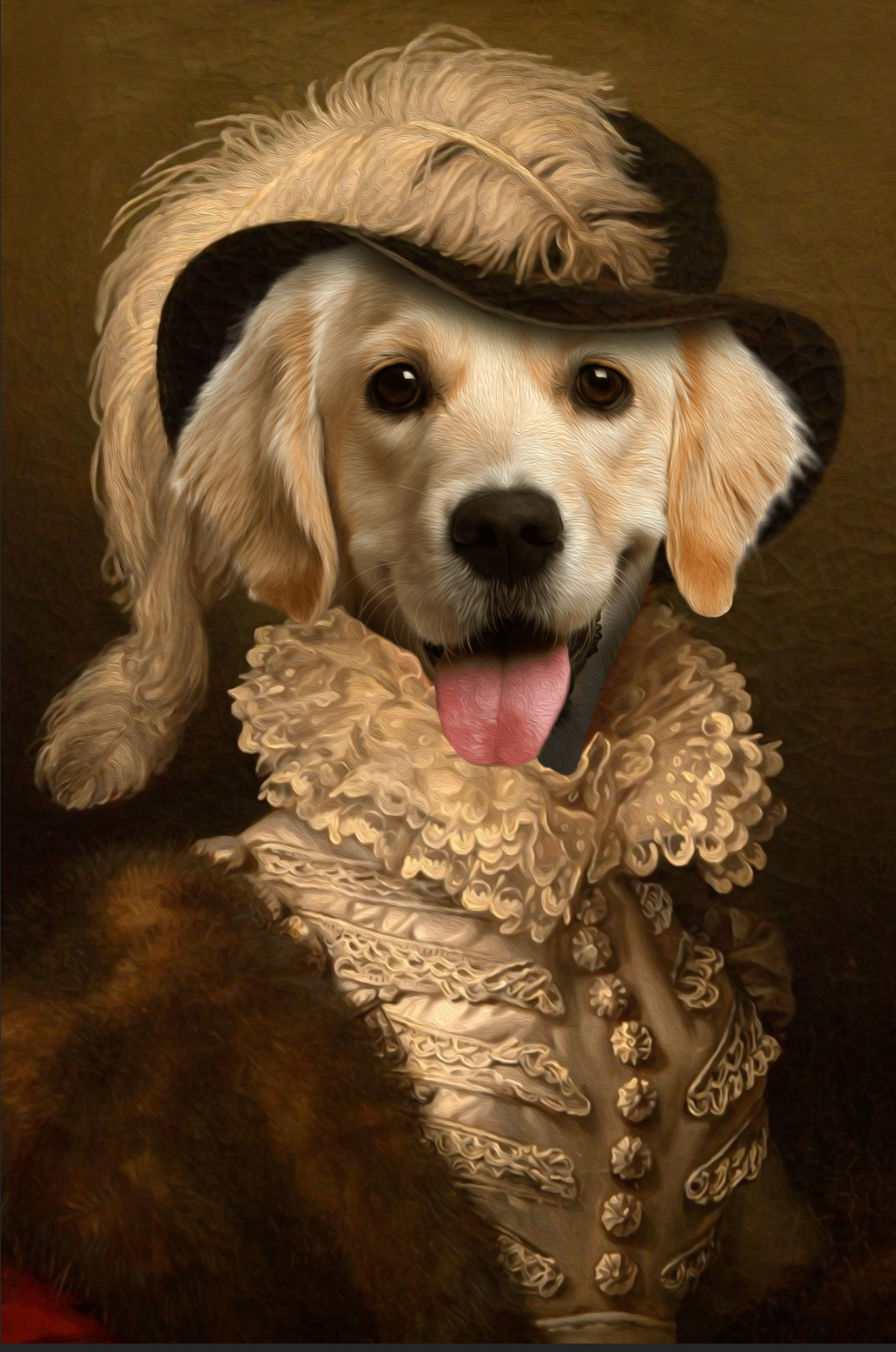 The Dame Custom Pet Portrait Digital Download - Noble Pawtrait
