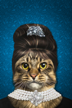 Load image into Gallery viewer, The Elegant Madam Custom Pet Portrait Digital Download - Noble Pawtrait