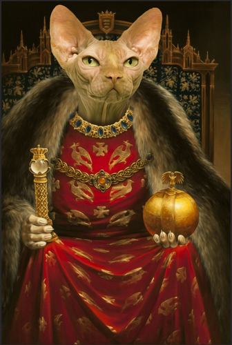 The Prophet Lord Custom Pet Portrait Digital Download - Noble Pawtrait