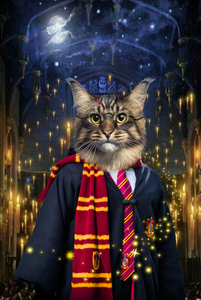 The Wizard Custom Pet Portrait Digital Download - Noble Pawtrait