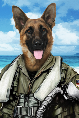 The Pilot Custom Pet Portrait Digital Download - Noble Pawtrait