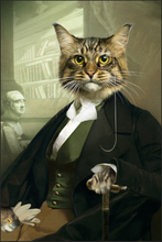 Load image into Gallery viewer, The Professor Custom Pet Portrait Canvas - Noble Pawtrait