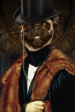 Load image into Gallery viewer, The Classic Man Custom Pet Portrait Poster - Noble Pawtrait