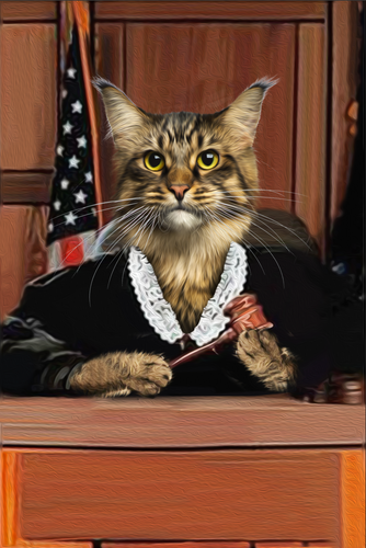 The Judge Custom Pet Portrait Digital Download - Noble Pawtrait