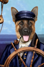 Load image into Gallery viewer, The Sailor Custom Pet Portrait Canvas - Noble Pawtrait