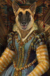 The Persia Princess Custom Pet Portrait - Noble Pawtrait