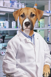 The Scientist Custom Pet Portrait Digital Download - Noble Pawtrait