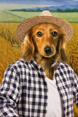 The Farmer Custom Pet Portrait Digital Download - Noble Pawtrait