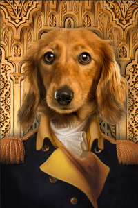 The Chief Of State Custom Pet Portrait - Noble Pawtrait