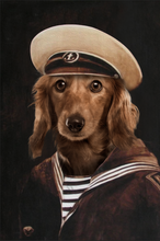 Load image into Gallery viewer, The Old School Sailor Custom Pet Portrait - Noble Pawtrait