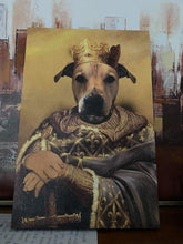 Load image into Gallery viewer, The Noble Warrior Custom Pet Portrait Canvas - Noble Pawtrait