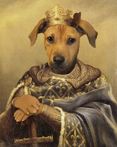 The Noble Warrior Custom Pet Portrait Poster - Noble Pawtrait