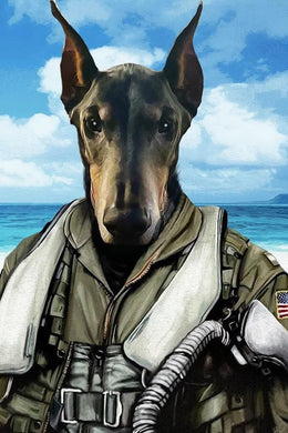 The Pilot Custom Pet Portrait Poster - Noble Pawtrait