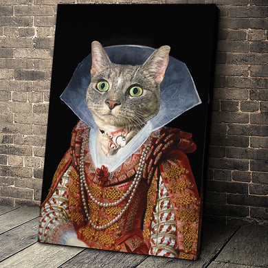 My Lady Custom Pet Portrait - Noble Pawtrait