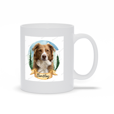 The Forest Watercolor Custom Pet Mug - Noble Pawtrait