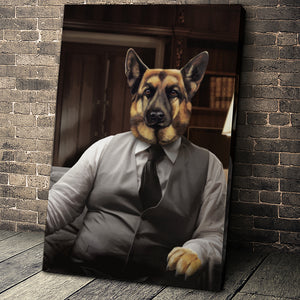 The Boss Custom Pet Portrait Digital Download - Noble Pawtrait