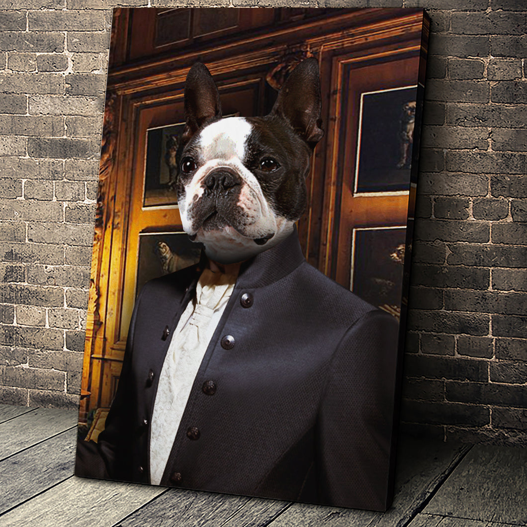 The Tailor Custom Pet Portrait - Noble Pawtrait