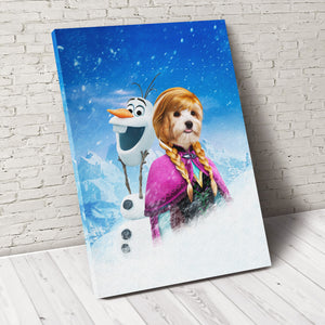 The Anna Custom Pet Portrait Canvas - Noble Pawtrait
