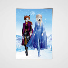 Load image into Gallery viewer, The Frozen Sister Custom Pet Portrait - Noble Pawtrait