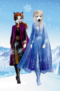 The Frozen Sister Custom Pet Portrait - Noble Pawtrait