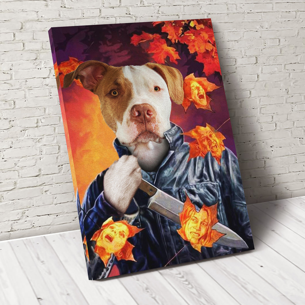 The Knife Custom Pet Portrait Canvas - Noble Pawtrait