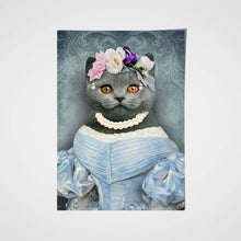Load image into Gallery viewer, The Lady in Blue Custom Pet Portrait Poster - Noble Pawtrait