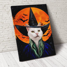 Load image into Gallery viewer, The Bloodmoon Witch Custom Pet Portrait Canvas - Noble Pawtrait