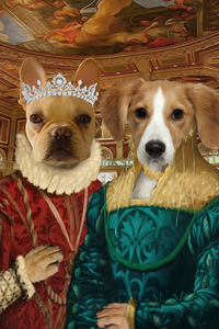 The Two Ladies Custom Pet Portrait Digital Download - Noble Pawtrait