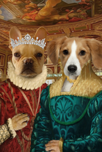 Load image into Gallery viewer, The Two Ladies Custom Pet Portrait Canvas - Noble Pawtrait