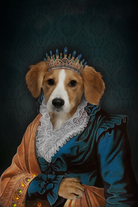 The Elegant Queen Custom Pet Portrait Digital Download - Noble Pawtrait