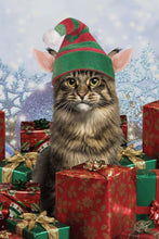 Load image into Gallery viewer, Christmas Helping Paw Pet Portrait Digital Download - Noble Pawtrait