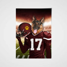 Load image into Gallery viewer, Washington Football Team Custom Poster Pet Portrait